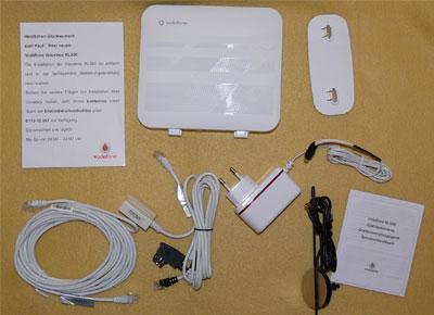 Vodafone RL500 VoiceBox - Lieferumfang